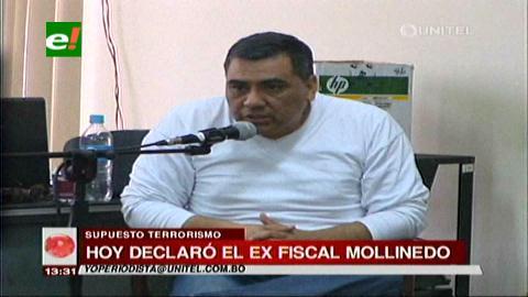 Ex fiscal Mollinedo declaró por el caso terrorismo
