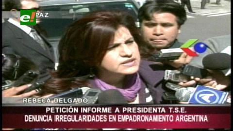 """Diputada Delgado: """"Bolivianos en el exterior denuncian irregularidades en el registro biométrico"""""""