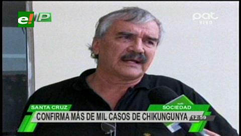 Confirman más de mil casos de chikungunya en Santa Cruz