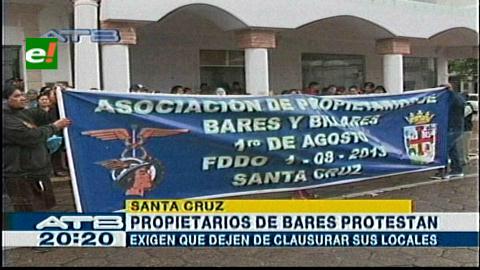Protesta: Bolicheros exigen licencia de funcionamiento para trabajar