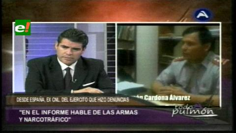 Coronel Cardona revela que se «exporta cocaína» desde El Chapare hacia Maiquetía