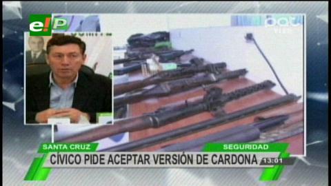 Cívicos piden a la Justicia tomar en cuenta las revelaciones de Cardona