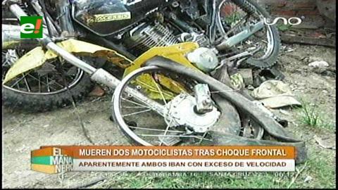 Trágico accidente de motos deja 2 muertos