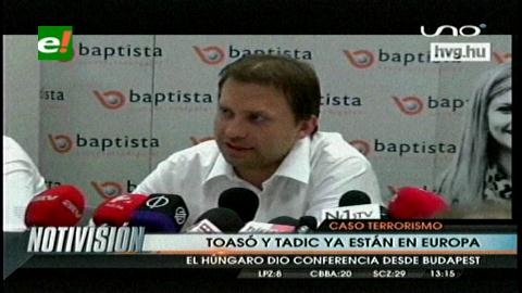 Desde Hungría Tóásó afirma que no era seguro vivir en Bolivia