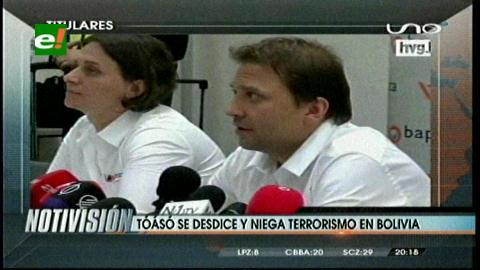 Titulares de TV: Tóasó cambia de versión en Hungría, negó participación en hechos terroristas en Bolivia