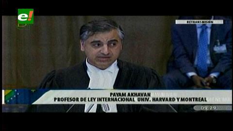 Payam Akhavan, abogado de Bolivia: Chile lo que está creando es una objeción falsa»