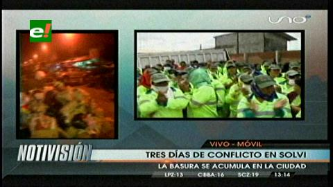 Tres días: Se agrava el conflicto con Solvi y la basura se acumula