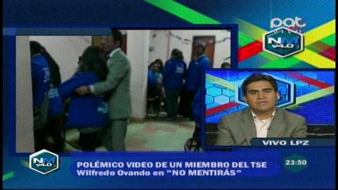 TSE no sancionará al vocal Paredes y justifica su fiesta junto a militantes del gobiernista MAS