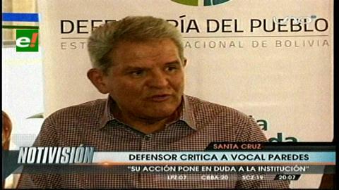Defensor del Pueblo critica accionar del vocal Paredes