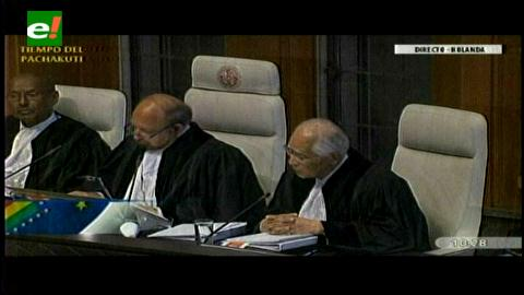 Juez de La Haya sorprende con una nueva pregunta a equipos de Chile y Bolivia