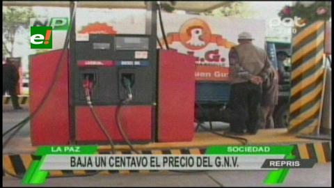 El precio del GNV para vehículos con placa extranjera baja un centavo