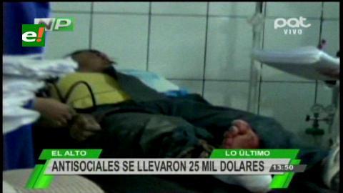 Atraco armado en El Alto deja un muerto y tres heridos de bala