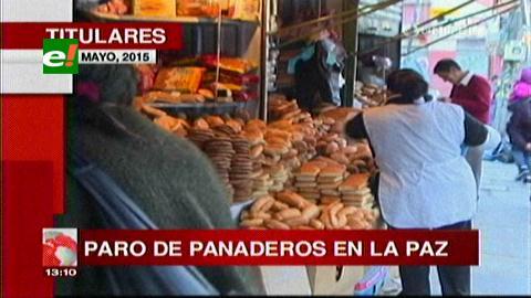 Titulares de TV: Paro de panaderos en La Paz contra del Gobierno, harina baja a la mitad de su precio