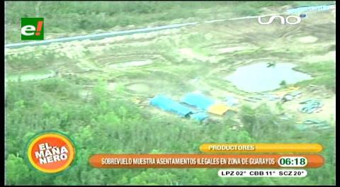 Sobrevuelo muestra asentamientos ilegales en la zona de Guarayos