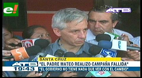 Vicepresidente: «El padre Mateo hizo una campaña fallida y retrograda por el 10% a la salud»