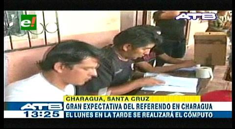 TSE: Resultados del referéndum en Charagua serán entregados el lunes por la tarde