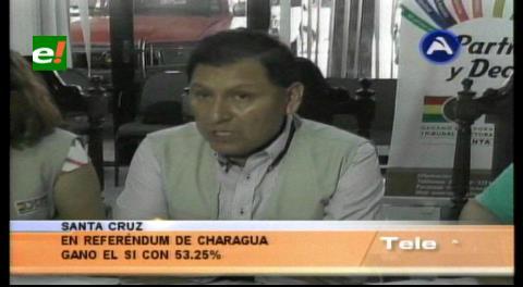 En Charagua ganó el 'Sí' y se aprueba su autonomía indígena
