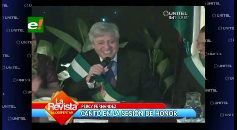 Aniversario de Santa Cruz: Percy cantó en la Sesión de Honor