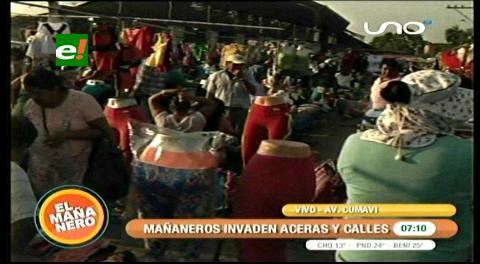 Mañaneros se resisten a dejar las calles y se asientan en la Cumavi