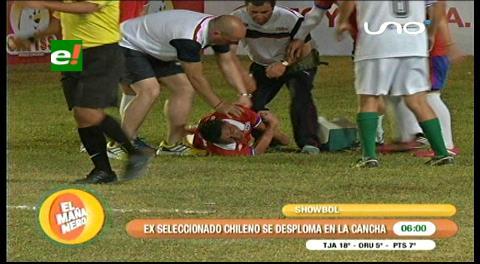Showbol en la Expocruz: Ex jugador Pablo Contreras sufre un infarto en pleno partido