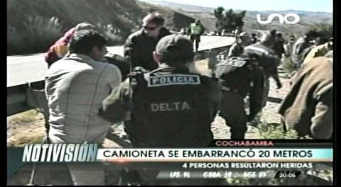 Cochabamba: Accidentes dejan a una mujer fallecida y 4 heridos