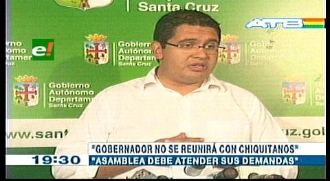 """Peña: """"La marcha indígena no representa a la nación chiquitana"""""""