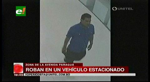 Santa Cruz: Cámara de seguridad captó un robo en un vehículo estacionado