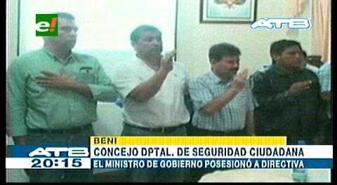 Ministro Romero posesiona al Consejo de Seguridad Ciudadana en Beni