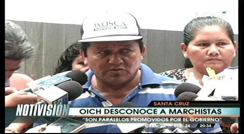 Conflicto en la Gobernación cruceña: OICH desconoce a indígenas marchistas