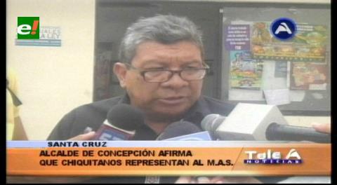 Alcalde de Concepción: «Los indígenas chiquitanos que hacen vigilia, son del MAS»