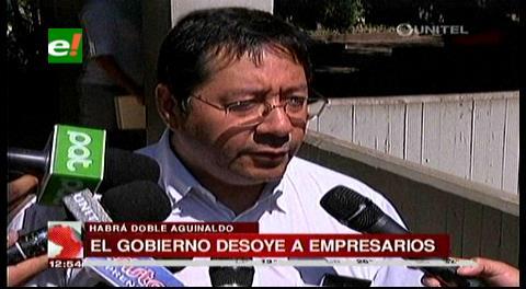 Gobierno desahucia pedido de no pagar doble aguinaldo