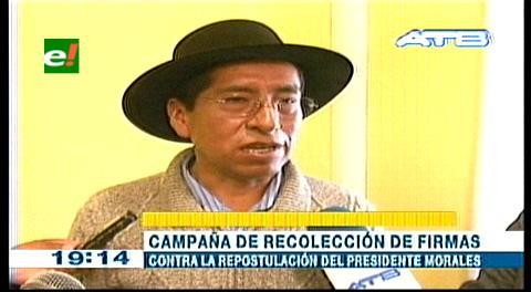 Gualberto Cusi reaparece y anuncia campaña por el No a la reelección de Evo