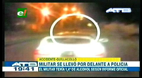 Cochabamba: Detienen a militar por arrastrar a policía con su vehículo