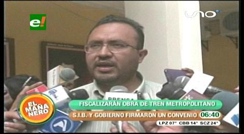 Cochabamba: Gobierno y SIB firman convenio para canalizar ejecución de Tren Metropolitano