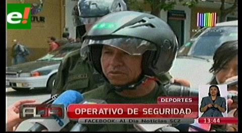 Policía moviliza a 1.470 efectivos para el partido Bolivia-Uruguay