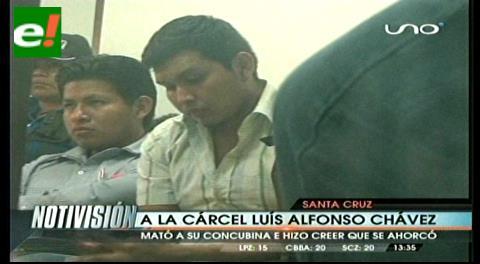 Envían a Palmasola a sujeto que mató a su concubina e hizo creer que se ahorcó