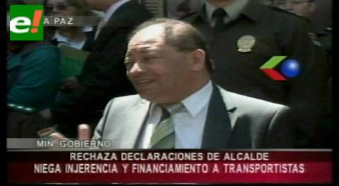Ministro Romero niega que el Gobierno impulse la movilización de los choferes en La Paz