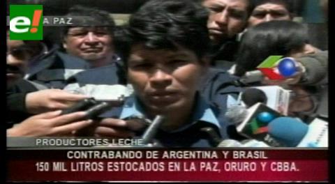 Lecheros denuncian leche de contrabando proveniente de Argentina y Brasil