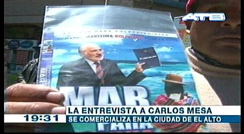 Venden DVD de la entrevista de Mesa en TV Chile