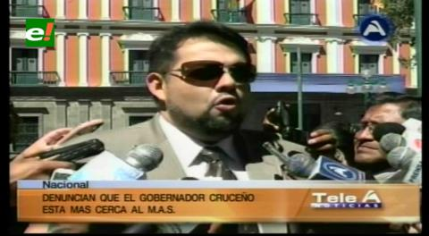 Diputado Morón denuncia que Rubén Costas está cada vez más cerca del MAS