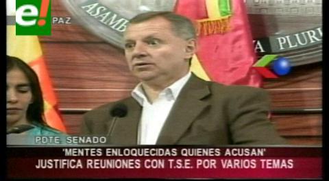 Senador Gonzáles admite y justifica reuniones con el TSE