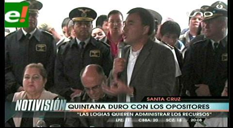 """Ministro Quintana califica de """"tontera"""" la alternabilidad de gobernantes"""