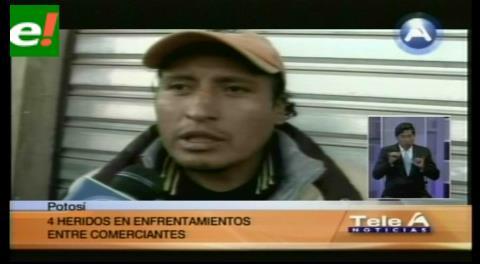 Pelea entre comerciantes acaba con heridos en Potosí
