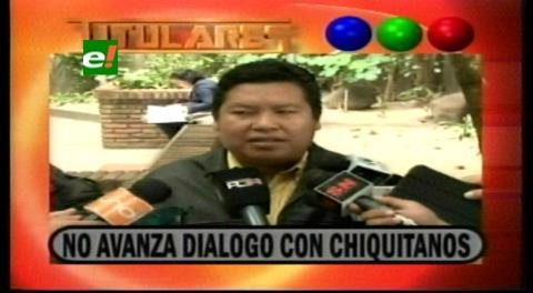 Titulares de TV: No avanza el diálogo entre la Gobernacion cruceña y los chiquitanos