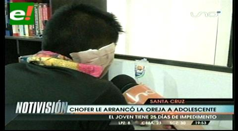 Chofer arrancó de un mordiscón parte de la oreja a un adolescente