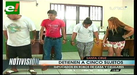 Detienen a cinco supuestos delincuentes implicados en robos de domicilios