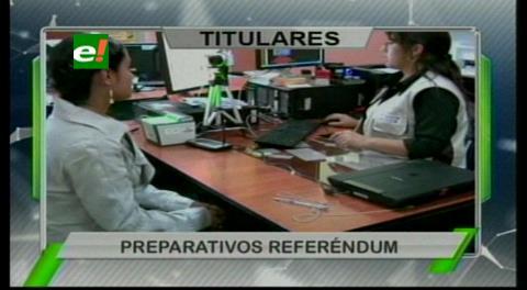 Titulares de TV: Tres de noviembre arranca el empadronamiento para el referéndum por la repostulación de Evo