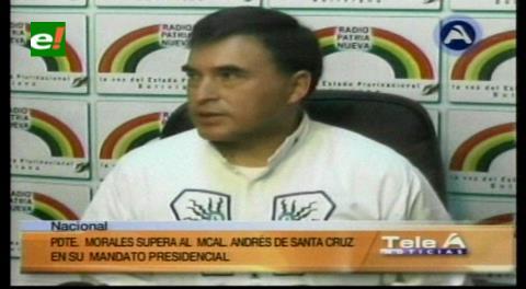Quintana compara el periodo de Evo con el impulsado por el Mariscal Andrés de Santa Cruz