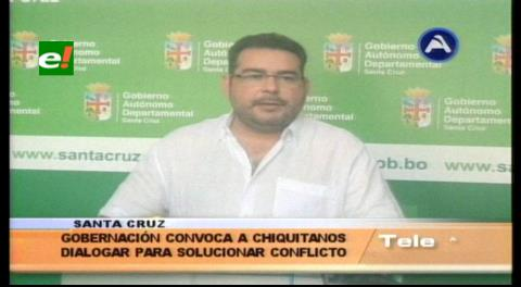 Gobernación: Los que promueven la movilización chiquitana, son los candidatos perdedores del MAS