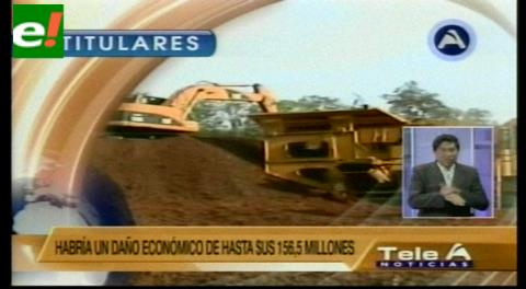 Titulares de TV: Ministerio de Minería pidió a Transparencia que intervenga la empresa Siderúrgica El Mutún